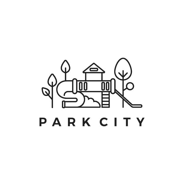 Logo Parku Miejskiego Premium Wektorów