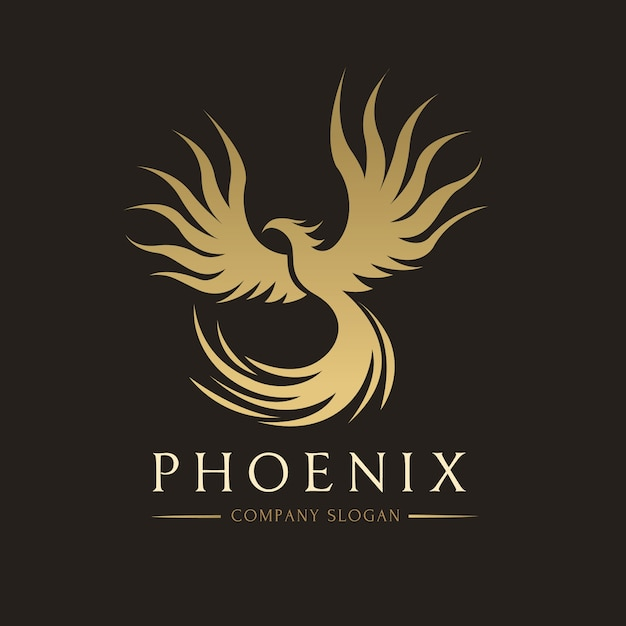 Logo Phoenix, Symbol Znaku Orła I Ptaka. Szablon Logo. Premium Wektorów