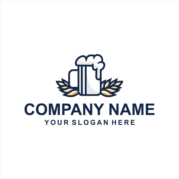 Logo piwa Premium Wektorów