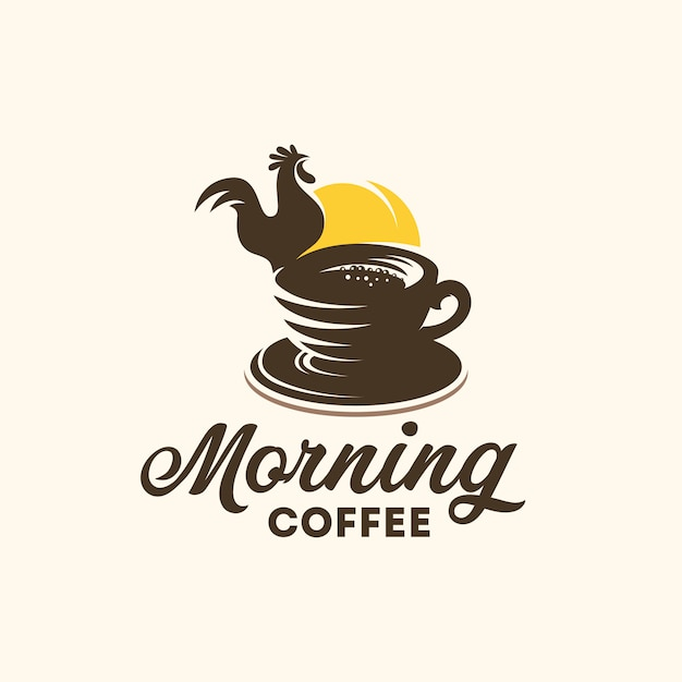 Logo Porannej Kawy Premium Wektorów