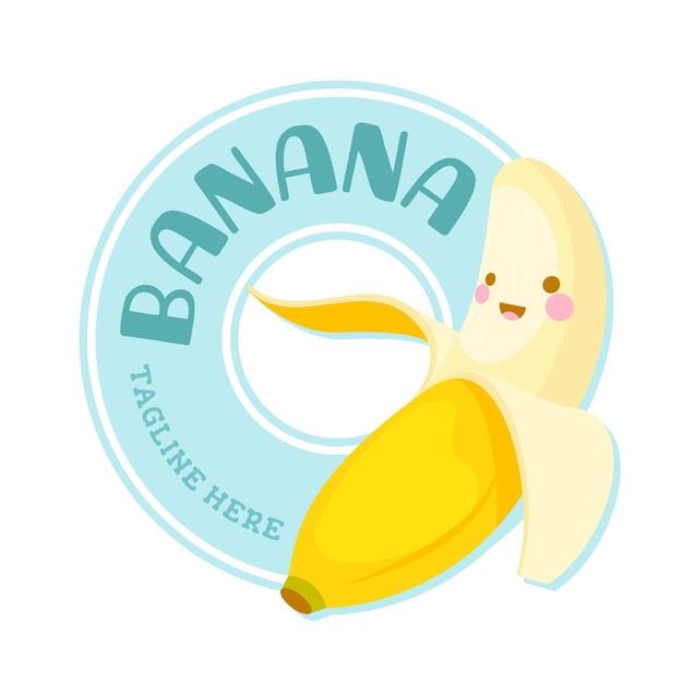 Logo Postaci ładny Banan Darmowych Wektorów