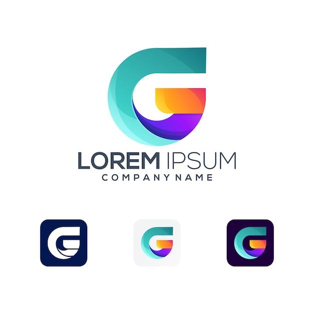 Logo Premium Litera G Premium Wektorów