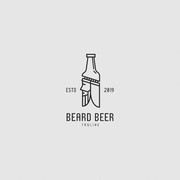 Logo premium z butelką i ludźmi Premium Wektorów