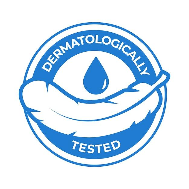 Logo Przetestowane Dermatologicznie Darmowych Wektorów