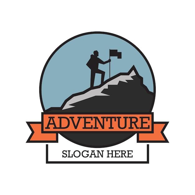 Logo Przygód Z Miejscem Na Tekst Dla Twojego Sloganu Premium Wektorów
