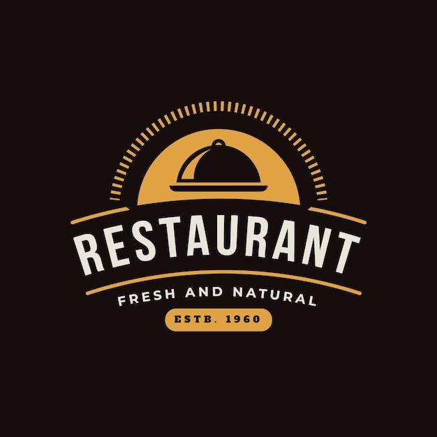 Logo Restauracji Retro Darmowych Wektorów