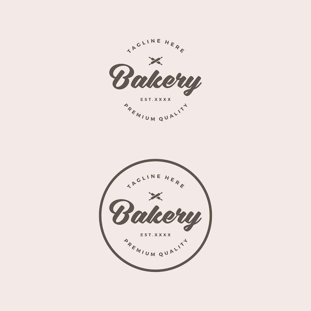 Logo retro sklep piekarni Premium Wektorów