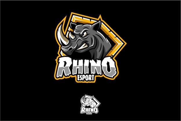 Logo rhino esport Premium Wektorów