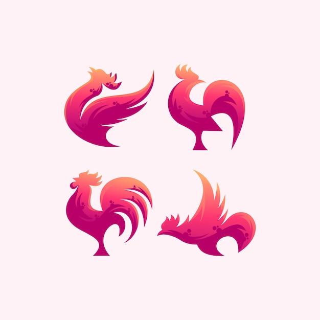 Logo roaster na różowo Premium Wektorów