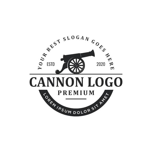 Logo Rocznika Armaty Premium Wektorów