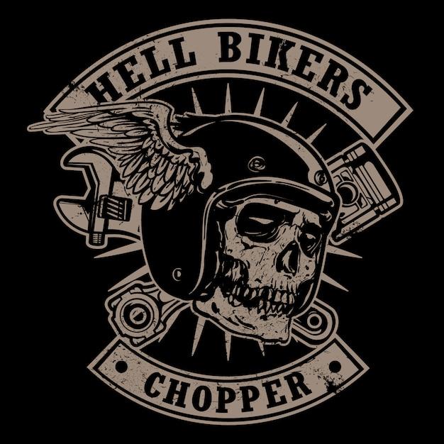 Logo Rocznika Motocykla Premium Wektorów