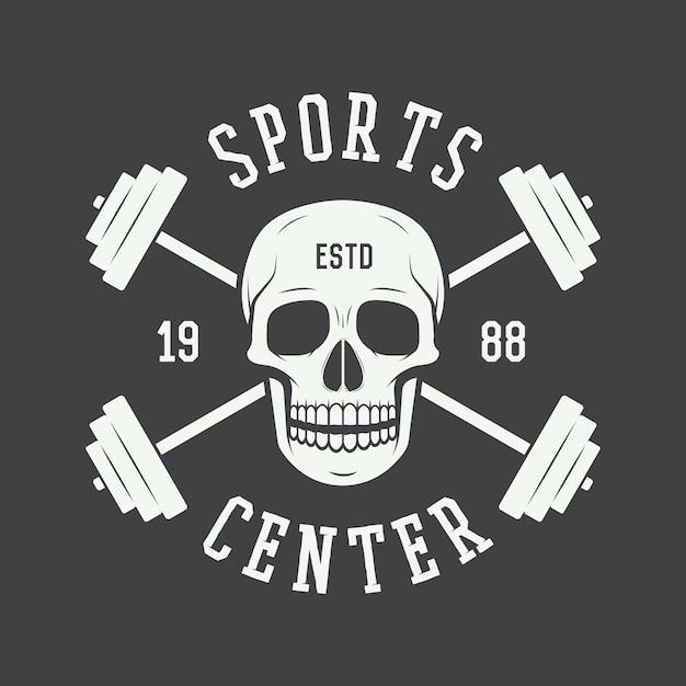 Logo siłowni, etykieta Premium Wektorów