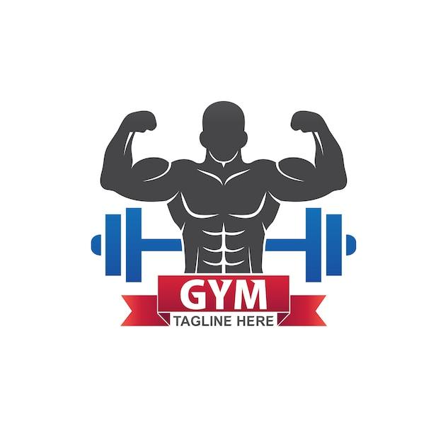 Logo Siłowni Fitness Premium Wektorów