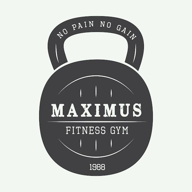 Logo siłowni Premium Wektorów