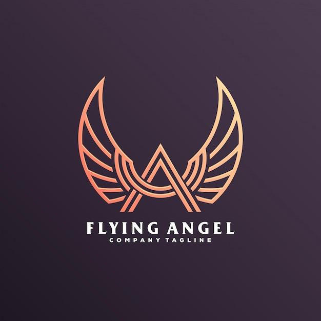 Logo skrzydła anioła Premium Wektorów