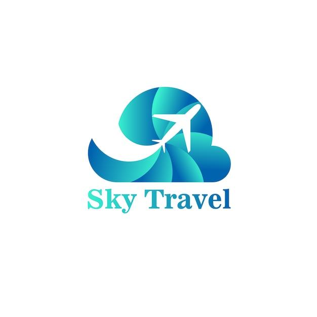 Logo Sky Travel Premium Wektorów