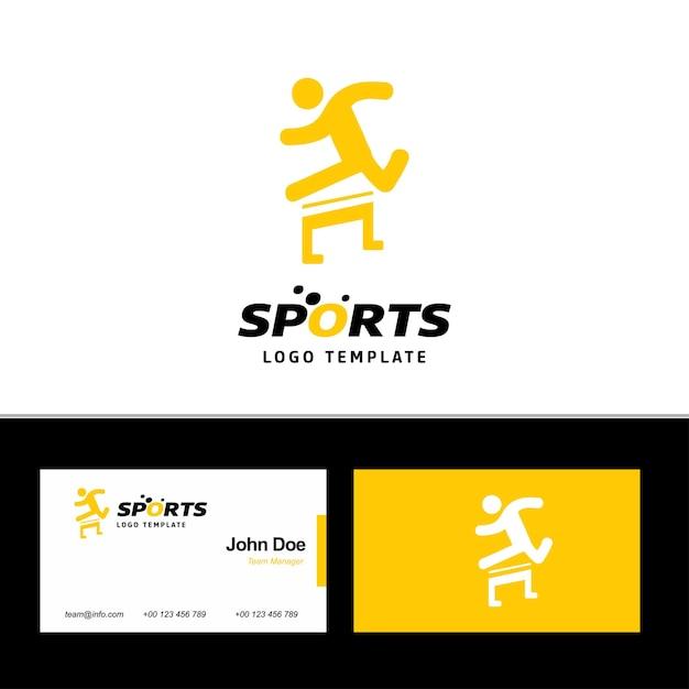 Logo sportowe i wizytówki Premium Wektorów