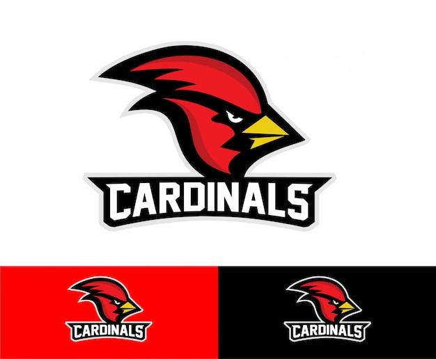 Logo sportowe kardynała ptaka Premium Wektorów
