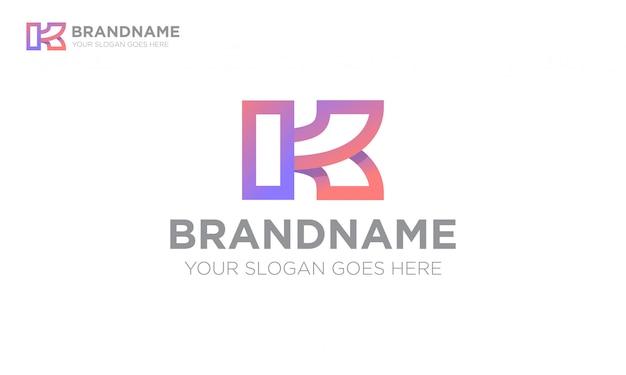 Logo Sportowe Litery K. Premium Wektorów