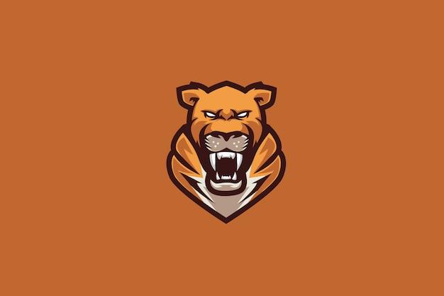 Logo Sportowe Orange Tiger E. Premium Wektorów