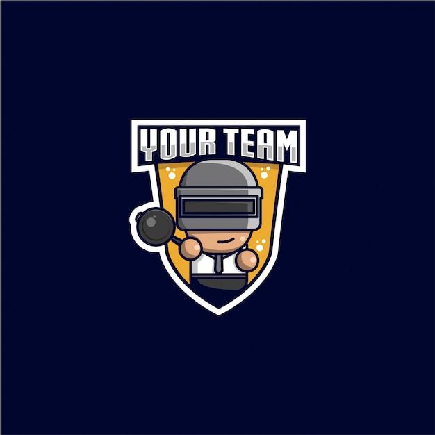 Logo sportowe royal battle Premium Wektorów