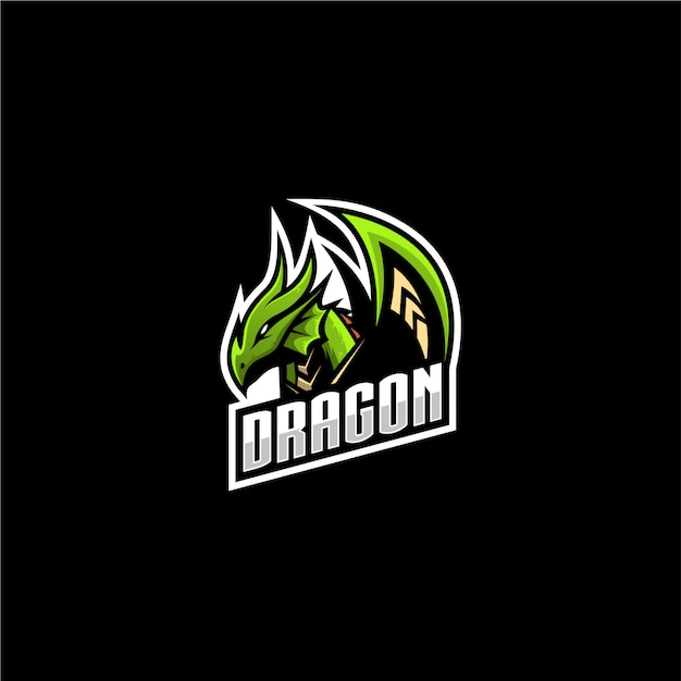 Logo sportowe smoka Premium Wektorów