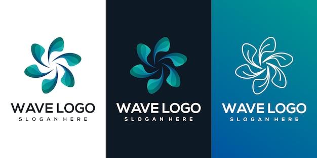 Logo Streszczenie Fali Premium Wektorów
