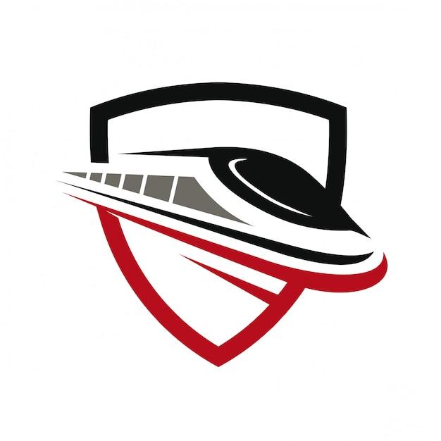 Logo Szybkiego Pociągu Premium Wektorów