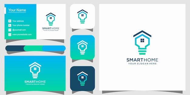 Logo Technologii Inteligentnego Domu I Wizytówka Premium Premium Wektorów