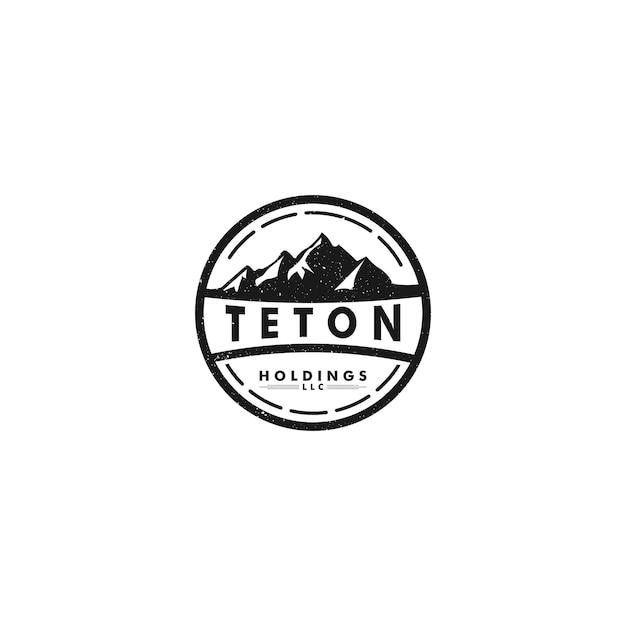 Logo teton holdings Premium Wektorów