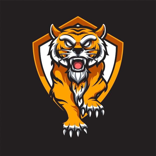Logo Tiger E. Sport Premium Wektorów