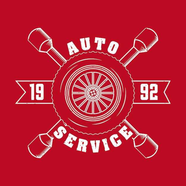 Logo usługi naprawy samochodowej Darmowych Wektorów