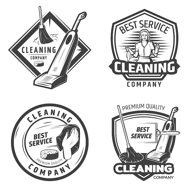 Logo Vintage Sanitation Darmowych Wektorów