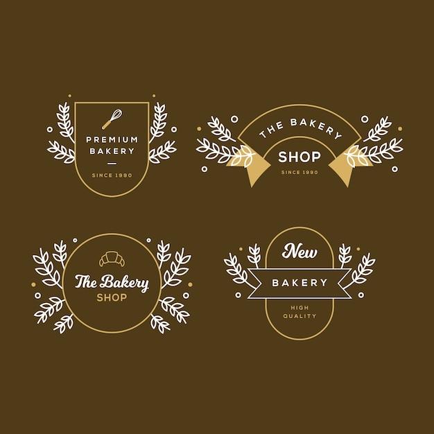 Logo W Stylu Retro Dla Piekarni Darmowych Wektorów