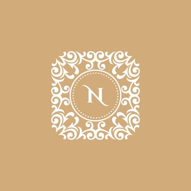 Logo w stylu vintage i luksusowe Premium Wektorów