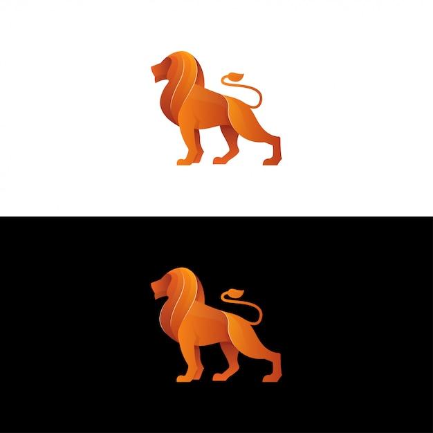 Logo Wektor Lew. Inspiracja Logo Gradient Lion Premium Wektorów