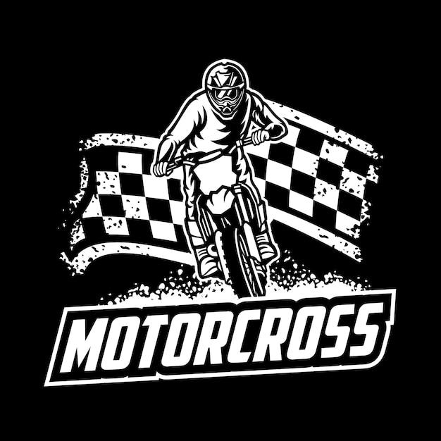 Logo Wektor Motocross, Freestyle Motocross Premium Wektorów