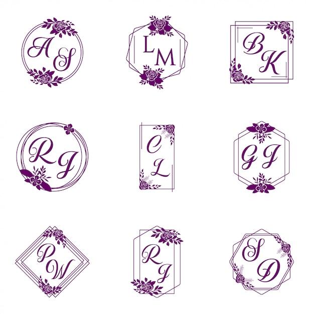 Logo Wektor Wesele Kolekcja Premium Wektorów