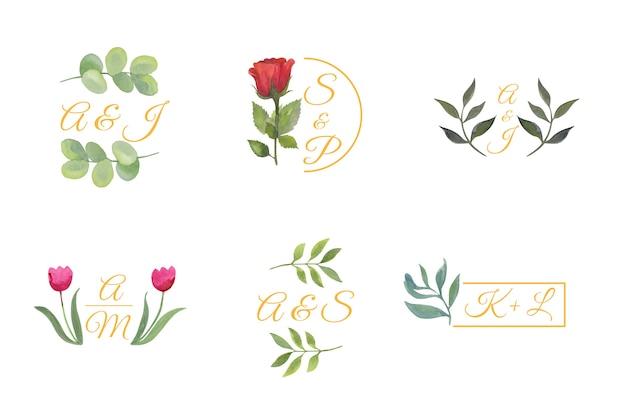 Logo Wesele Kwiatowy Darmowych Wektorów