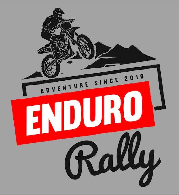 Logo Wyścigów Motocyklowych Premium Wektorów