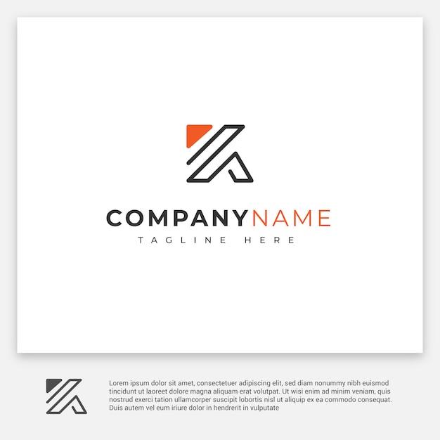 Logo Z Literą K. Premium Wektorów