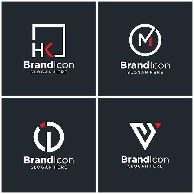 Logo Z Monogramem Premium Wektorów