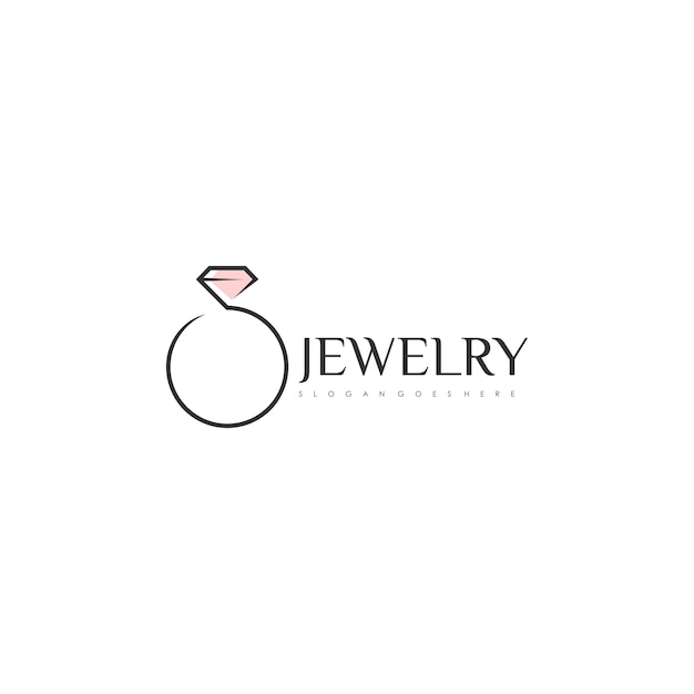 Logo Z Pierścieniem Premium Wektorów