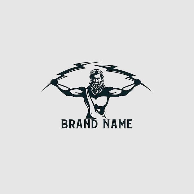 Logo Zeus Thunder Premium Wektorów