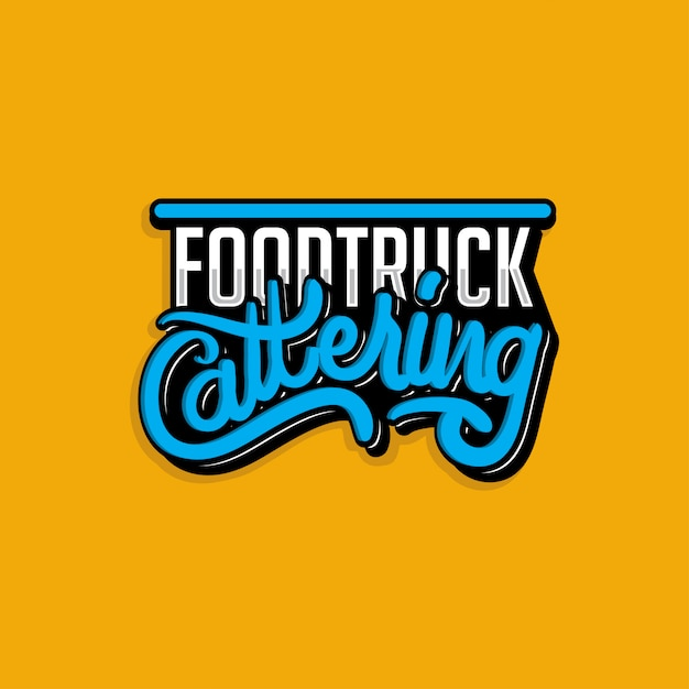 Logotyp ciężarówki do przewozu żywności Premium Wektorów