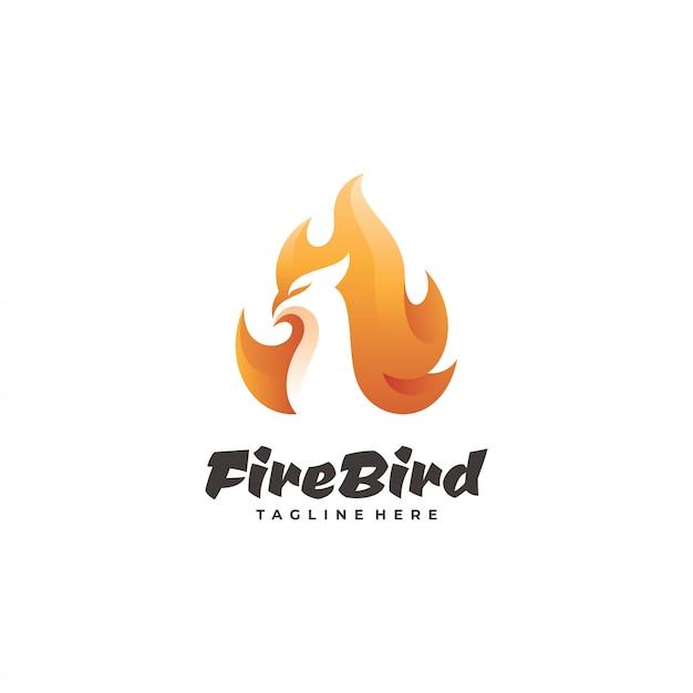 Logotyp Ptaka Ognia Premium Wektorów