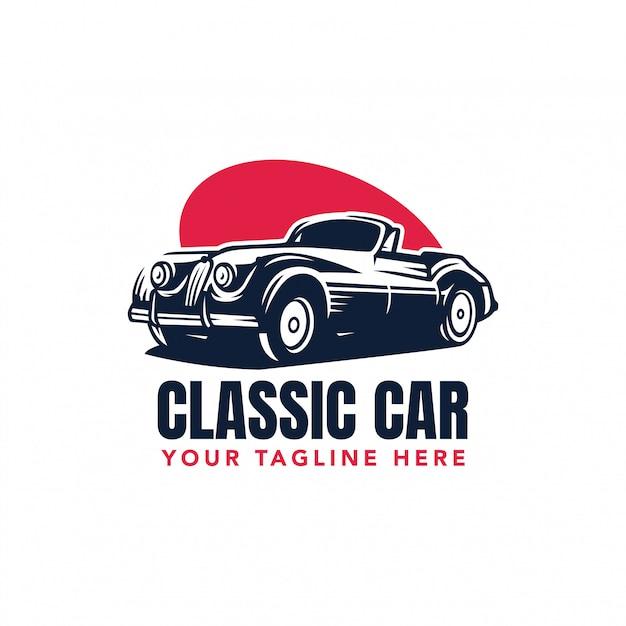 Logotyp Wektor Klasyczny Samochód Premium Wektorów