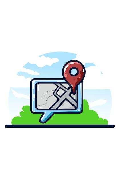 Lokalizacja Rysunku Odręcznego Udostępniania Ilustracji Premium Wektorów