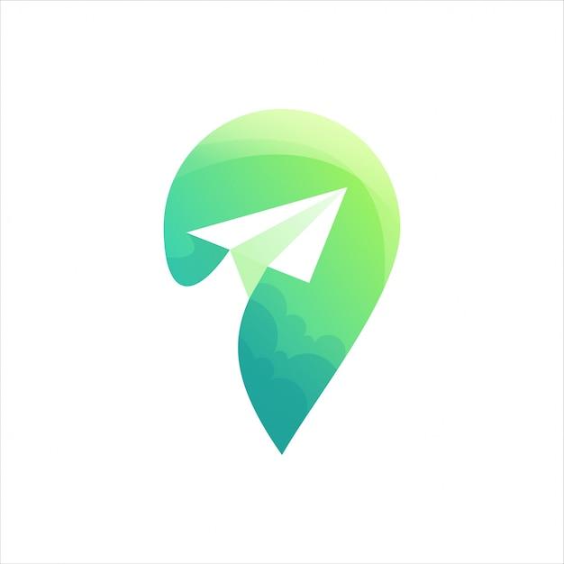 Lokalizacja zielone logo Premium Wektorów