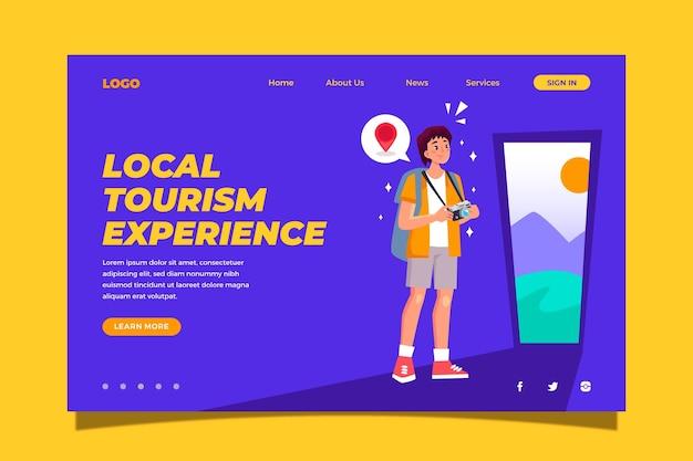 Lokalna Strona Docelowa Turystyki Darmowych Wektorów